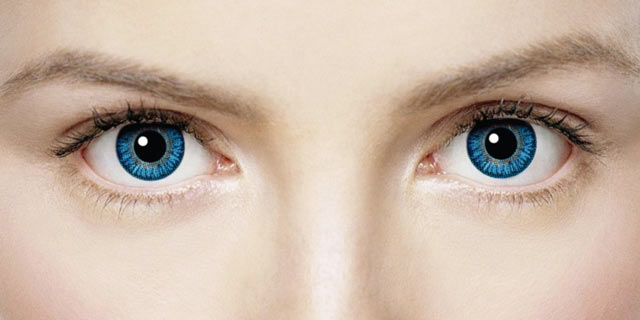 Голубые линзы для глаз
