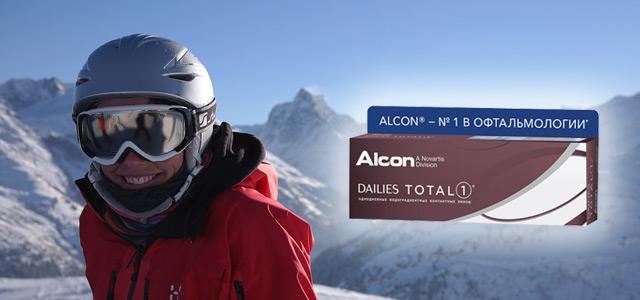 Контактные линзы для глаз ALCON Dailies Total 1