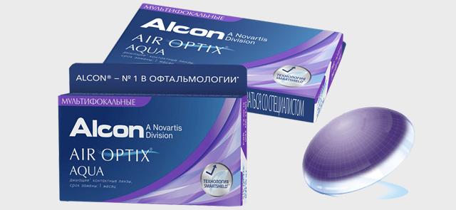 Мультифокальные линзы air optix aqua multifocal