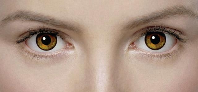 Цветные контактные линзы для глаз