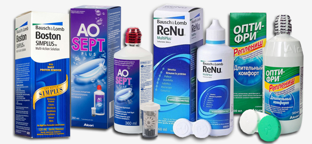 Раствор для контактных линз